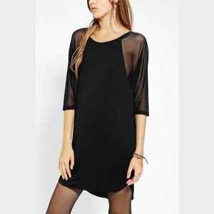 New UO Silence + Noise sheer dolman sleeve t-dress